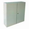 2 Door type Metal Enclosure IP65 Surface finished with polyester powder coating RAL7032 texture, CVS beige colour.