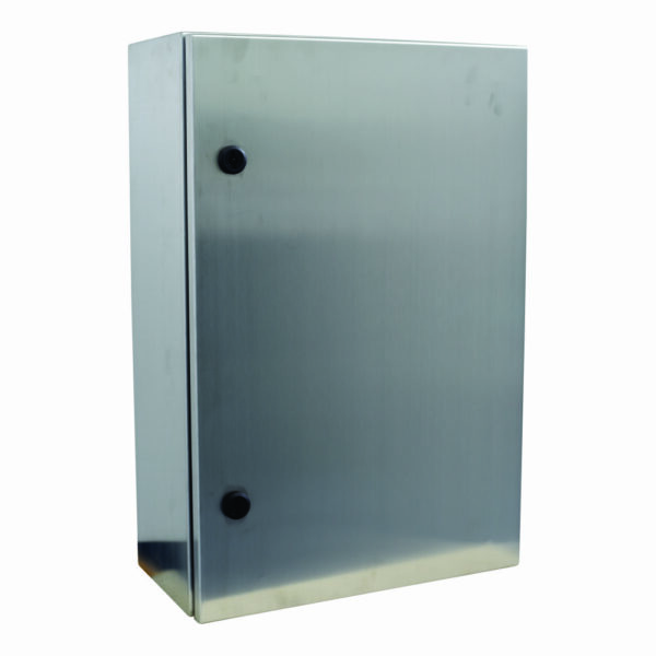 Stainless Steel Enclosures 304 IP65 Model CRX808030 dimension 800Hx800Wx300D (MM), includes 1 Mounting Plate 764x750, 1 Gland Plate 310x115 (Gland Hole Size), 2 Plastic Lock