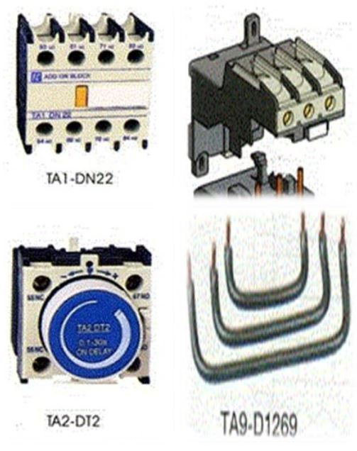 Contactor 3Pole and 4 Pole Add on Accessories