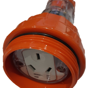 M66CSC310 3 flat pin 10A straight extension socket 250V
