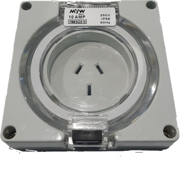 M66SO310 3 flat pin 10A socket outlet 250V