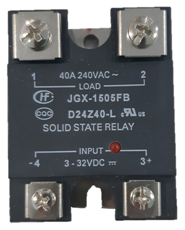 Solid State Relay Output 40 Amp 240 VAC Input 3-32VDC with LED